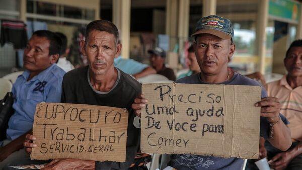 Los migrantes venezolanos en Brasil - Sputnik Mundo