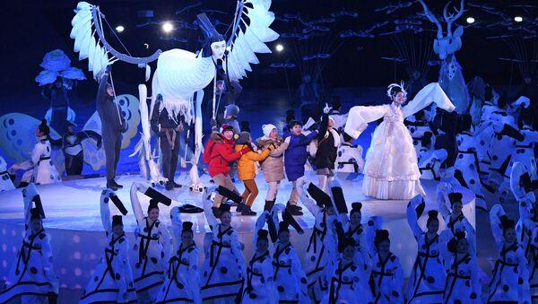 La ceremonia de apertura de los Juegos Olímpicos de Invierno se celebró en la ciudad surcoreana de Pyeongchang - Sputnik Mundo