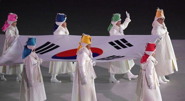 La espectacular inauguración de los JJOO en Pyeongchang - Sputnik Mundo