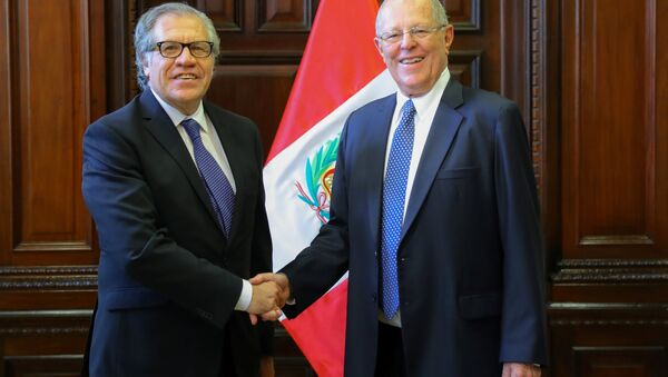 Presidente de Perú, Pedro Pablo Kuczynski, y secretario general de la Organización de los Estados Americanos, Luis Almagro - Sputnik Mundo