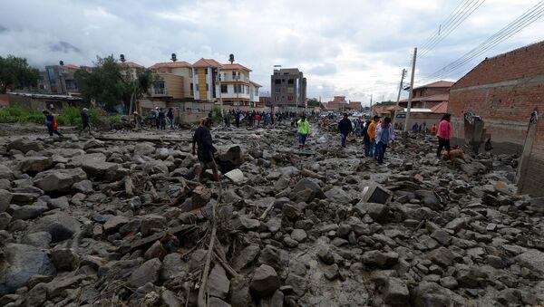 Inundaciones en Tiquipaya, Bolivia - Sputnik Mundo