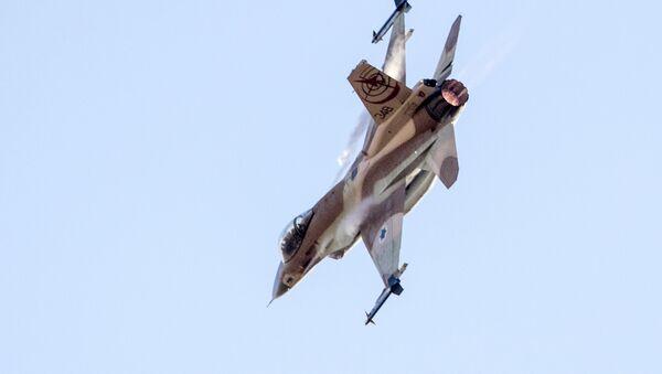 Un avión israelí F-16 (archivo) - Sputnik Mundo