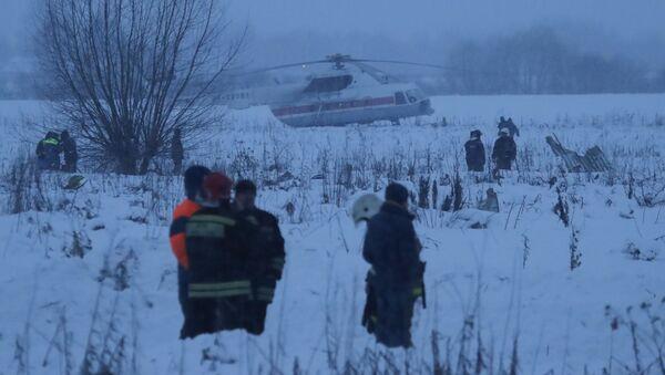 El lugar del siniestro del avión de pasajeros An-148 - Sputnik Mundo