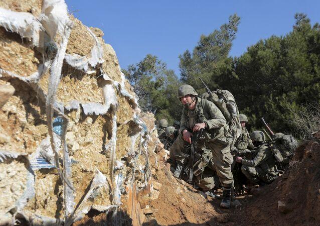 Militares turcos en Afrín, Siria