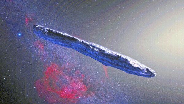 El asteroide Oumuamua, impresión artística - Sputnik Mundo