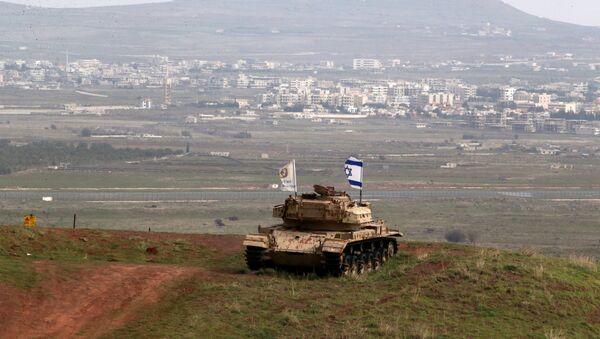 Tanque de Israel en Siria (archivo) - Sputnik Mundo