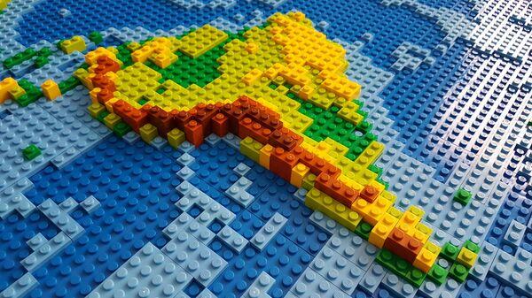Mapa de América Latina, hecho con Lego (imagen referencial) - Sputnik Mundo