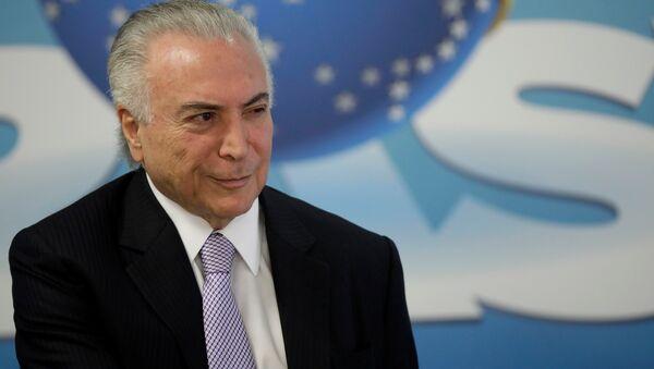 Michel Temer, el presidente de Brasil - Sputnik Mundo