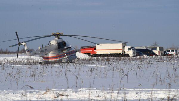 El lugar del siniestro del avión An-148 a las afueras de Moscú - Sputnik Mundo