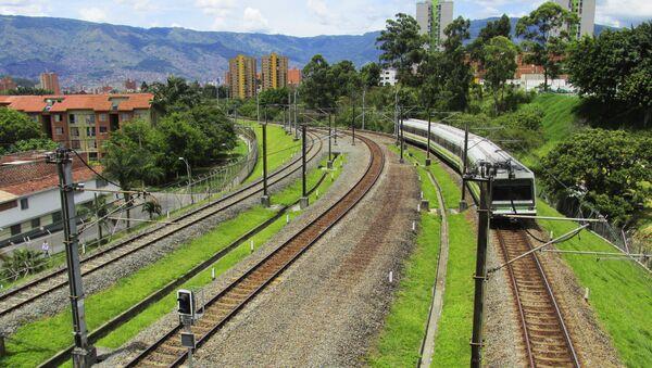 Ferrocarril en Colombia (imagen referencial) - Sputnik Mundo