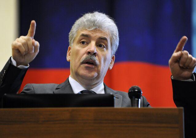 Pável Grudinin, el candidato del Partido Comunista ruso para las elecciones presidenciales de 2018