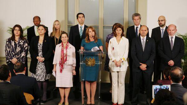Cayetana Aljovín, ministra de Relaciones Exteriores de Perú, y representantes de los países que integran el Grupo de Lima - Sputnik Mundo