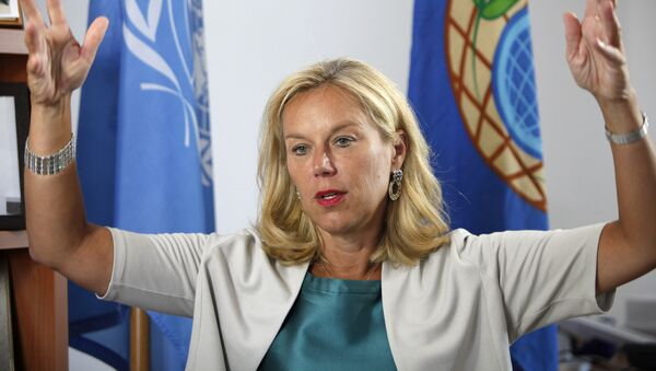 La ministra de Comercio Exterior y Desarrollo de la Cooperación de Holanda, Sigrid Kaag - Sputnik Mundo