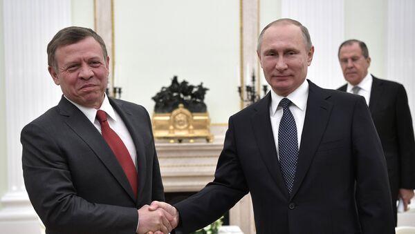 La reunión entre Abdallah II, el rey de Jordania y Vladímir Putin, el presidente de Rusia - Sputnik Mundo