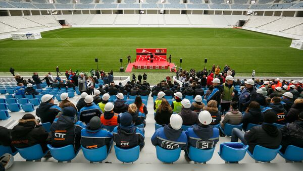 Volgograd Arena, el estadio en Volgogrado donde se celebreará el Mundial 2018, Rusia - Sputnik Mundo