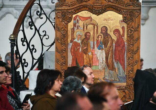 Un icono cristiano ortodoxal (imagen referencial)
