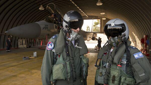 Pilotos militares israelíes, foto de archivo - Sputnik Mundo