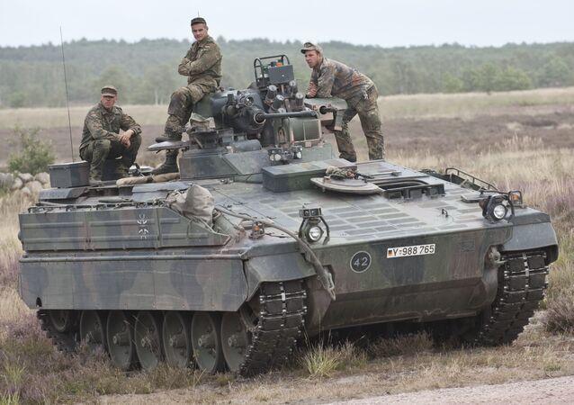 Un vehículo Marder de Alemania