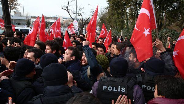 Manifestantes anti-EEUU en Ankara, Turquía - Sputnik Mundo