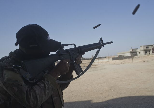 Un tiroteo con proyectiles tradicionales en Irak