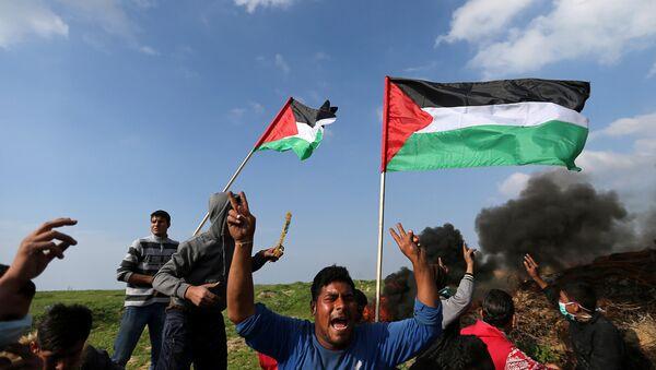 Protestas en la Franja de Gaza - Sputnik Mundo