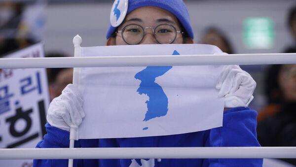 La bandera de la península de Corea - Sputnik Mundo