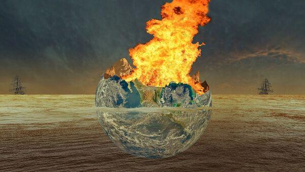 La Tierra destrozada por una catástrofe, visión artística - Sputnik Mundo