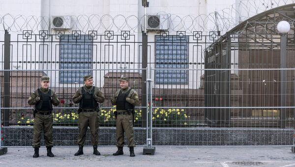 La embajada de Rusia en Kiev (archivo) - Sputnik Mundo