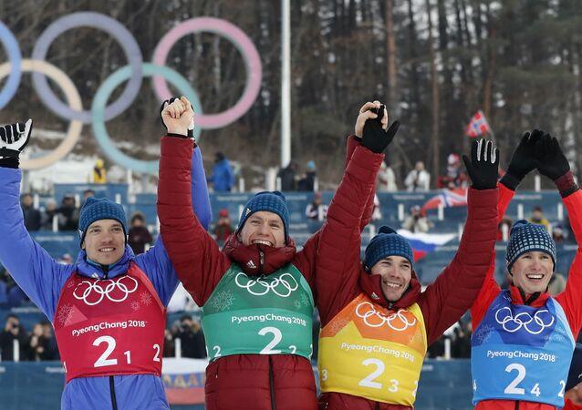 Esquiadores olímpicos de Rusia