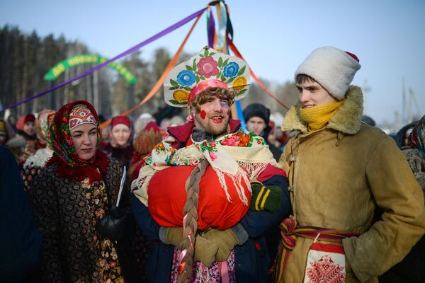 Празднование Масленицы в Новосибирске - Sputnik Mundo