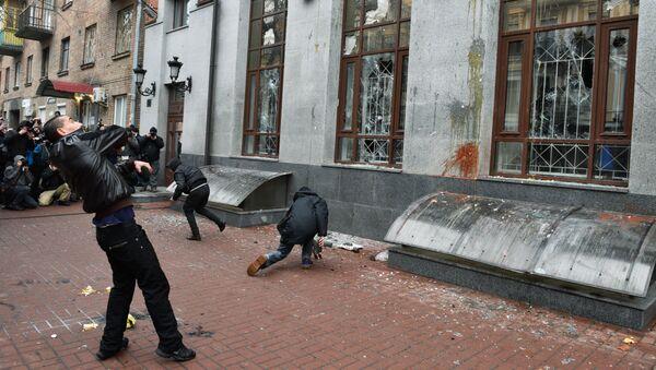 Ataque contra la misión rusa en Kiev - Sputnik Mundo