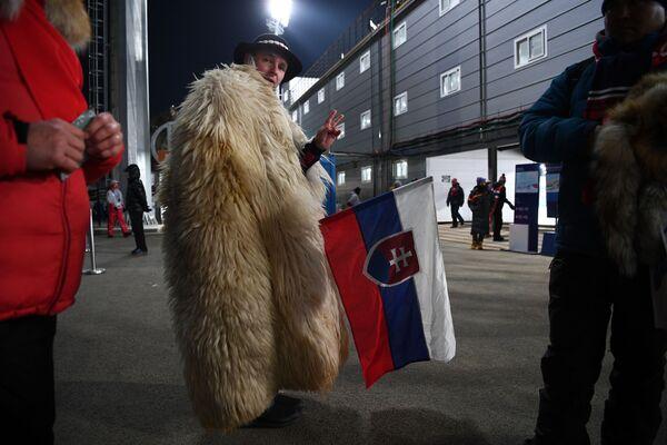 Entre vikingos y Papás Noel: así animan a sus equipos los hinchas de los JJOO de Pyeongchang - Sputnik Mundo