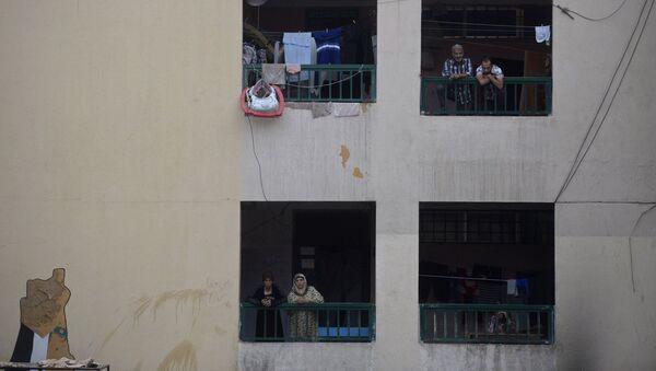 Refugiados palestinos del campo Yarmuk en Damasco, Siria (archivo) - Sputnik Mundo