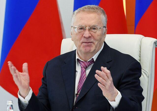 Vladímir  Zhirinovski, líder del Partido Liberal-Demócrata de Rusia (LDPR)