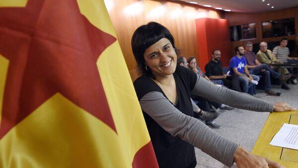 Anna Gabriel, exdiputada catalana de la Candidatura d'Unitat Popular (CUP) (archivo) - Sputnik Mundo