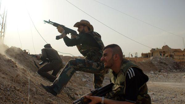 Milicias progubernamentales sirias (archivo) - Sputnik Mundo