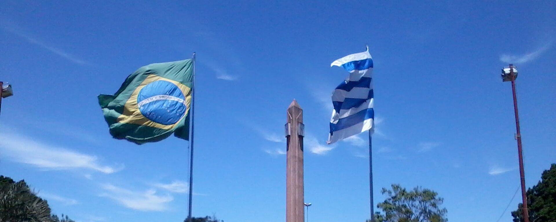 Frontera de la Paz entre Uruguay y Brasil, plaza internacional de Rivera-Santana do Livramento. - Sputnik Mundo, 1920, 22.06.2021