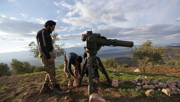 Soldados del Ejército Libre Sirio en Afrín - Sputnik Mundo