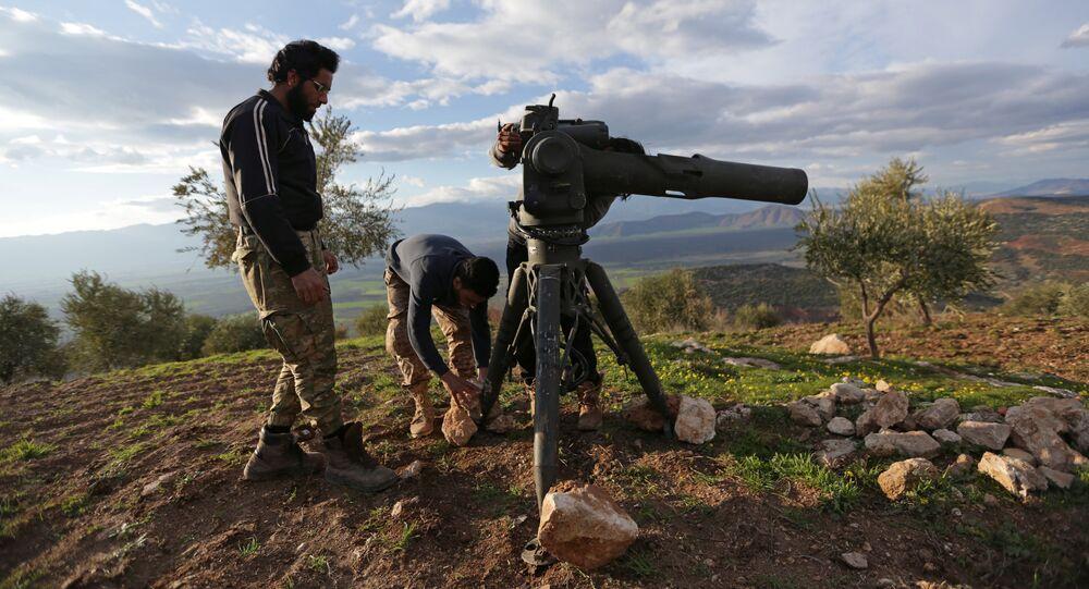Soldados del Ejército Libre Sirio en Afrín