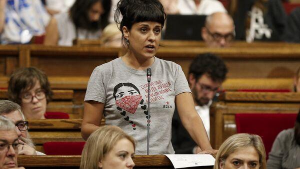 Anna Gabriel, la exdiputada catalana de la Candidatura d'Unitat Popular (CUP) (archivo) - Sputnik Mundo