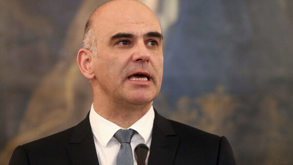 Alain Berset, presidente de Suiza - Sputnik Mundo