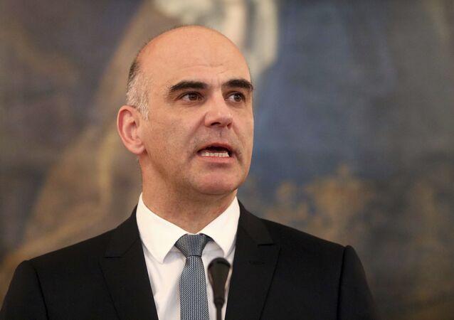 Alain Berset, presidente de Suiza