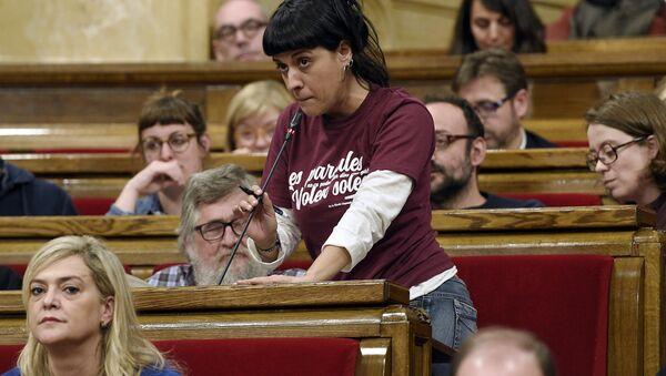 Anna Gabriel, la exdiputada catalana - Sputnik Mundo