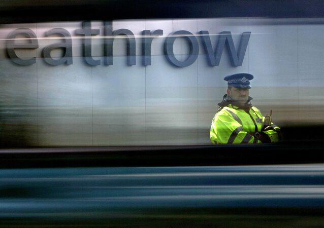 El aeropuerto de Heathrow en Londres, Reino Unido