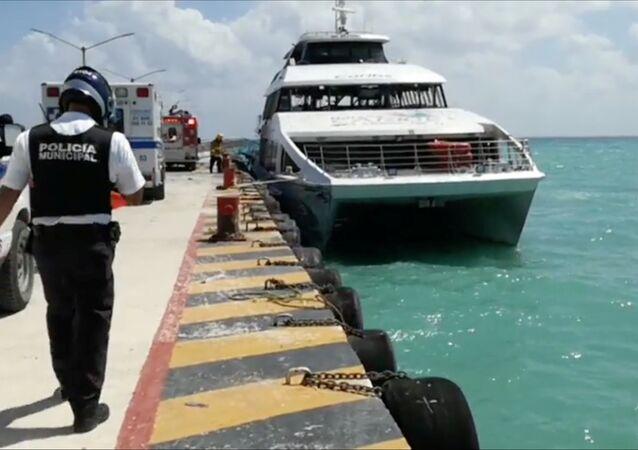 Ferry donde se produjo la explosión