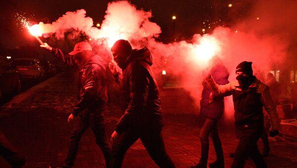 Aniversario de los acontecimientos en Maidán, en Kiev - Sputnik Mundo