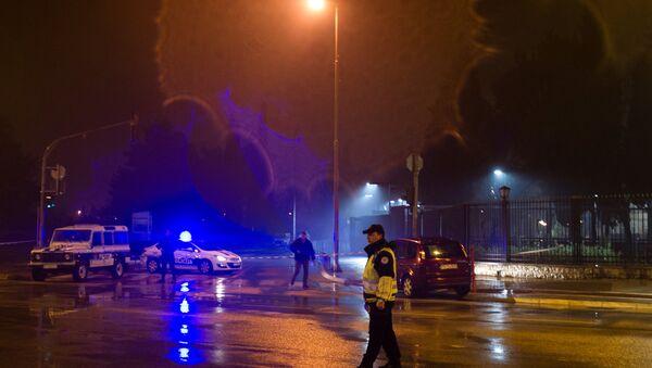 El ataque a la embajada de EEUU en Podgorica, Montenegro - Sputnik Mundo