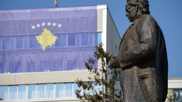 Bandera de Kosovo en Pristina, la capital del país - Sputnik Mundo
