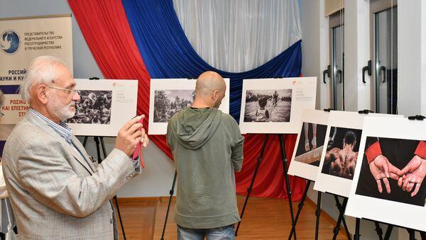La exhibición de las fotos ganadoras del Concurso Andréi Stenin (archivo) - Sputnik Mundo