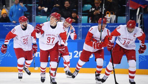 Jugadores de hockey rusos - Sputnik Mundo